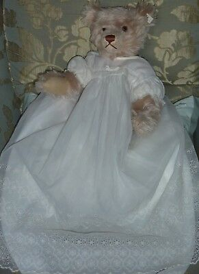 1960s Vintage Baby Christening Gown~Dress For Doll Or Bear~