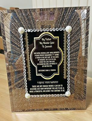 Personalised Crystal and Glass Photo Frame Gifts Any Message HE769-PV