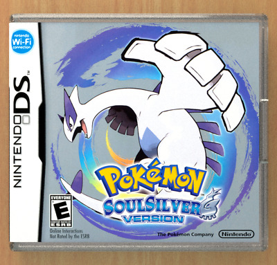 Pokemon Soul Silver Version DS Custom Replacement CASE (*NO GAME*)