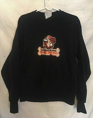 Vintage 90s Cleveland Browns Dawg Pound 1990s NFL Football Sweatshirt  (Large) 631d668c9