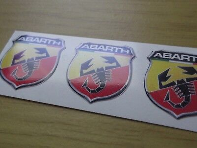 ABARTH FIAT  sticker/decal x5