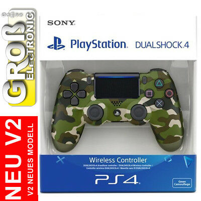 Controller PS4 PLAYSTATION Dual Shock 4 DualShock Green Camouflage V2 Sony 2016