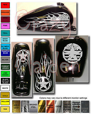 Motorcycle decal graphics American Flag Distressed Gas tank /& Fender set