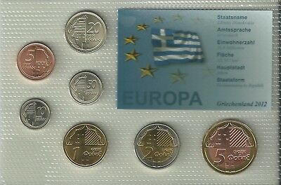 Griechenland,2012,Kursmünzensatz,Münzen,Coin set,KMS,Intro,Top,Blister,Probe