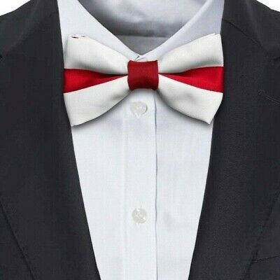English Red and White St. George's Day England Bow Tie Trooping the Colour