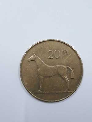 Ireland 20p Twenty Pence Nickel- Brass Coin Available Dates 1986-1999