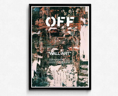 SUPREME X OFF White Style Canvas, Hypebeast Canvas Wall Art, Pop ...