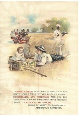 "Cream Of Wheat Ad (Original) 1901   (6.5""x 9.5"")"