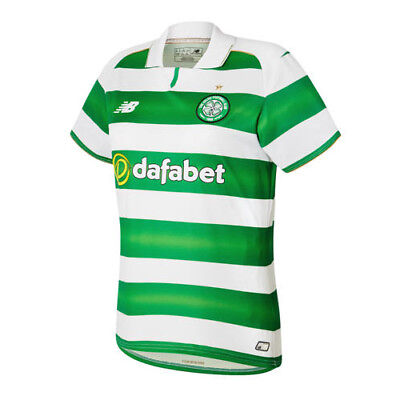 New Balance Celtic FC 2016/17 Womens Home Football Shirt White/Green
