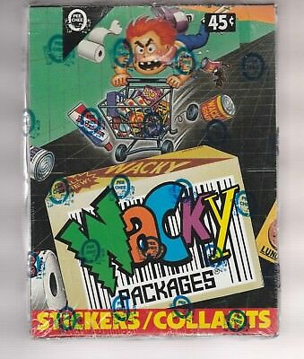 1992 P-Pee-Chee OPC Wacky Packages Stickers Box 36 Packs Tough! Sealed!
