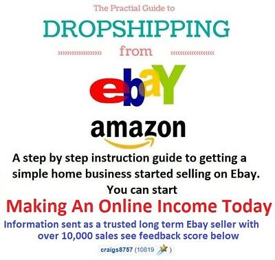 Work From Home Sell Goods Ebay Amazon Drop Shipping Business Income Opportunity