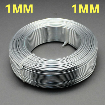 1mm Aluminium Craft Florist Wire Jewellery Making WHITE SMOKE GRAY 10m lengths