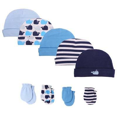 Hats Caps Newborn Baby Cotton Beanie Cap Infant Girl Toddler Hospital Cotton Set