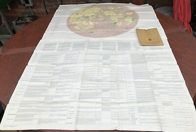 Mint! 2pc U.S.G.S. Map of the Moon & Detailed Report, Folder 52x40 1961 Genuine