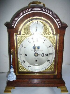 Small Size Antique Mahogany Chiming on 6 Bells Triple Fusee Verge Bracket Clock