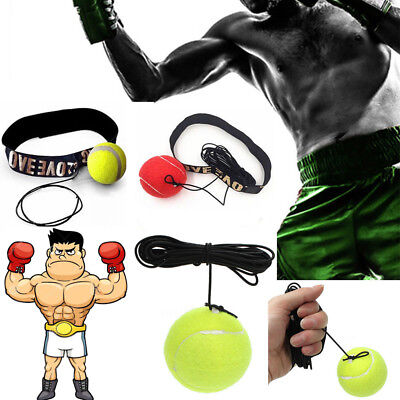 Fight Boxing Reflex Punch Ball With Head Band Reflex Speed  Training Tool Kit UK