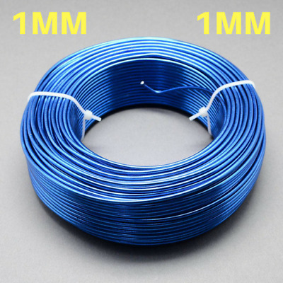 1mm Aluminium Craft Florist Wire Jewellery Making Blue 10m lengths