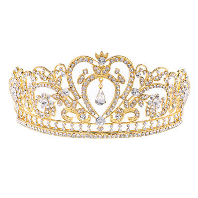 Mariage nuptiale Baroque Cristal Strass Couronne Tiara Chapeaux
