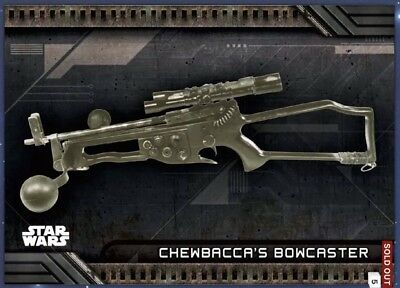 CHEWBACCA'S CROSSBOW Topps Star Wars Card Trader GALACTIC FILES WEAPONS Digital