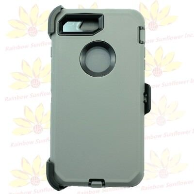 Gray Black for iPhone 7 Plus Defender Case Cover w/ Belt Clip Fits Otterbox