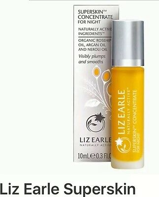 20ml Liz Earle Superskin CONCENTRATE (2x10ml) Roll On Facial Rosehip & Argan Oil