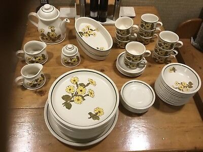 JOHNSON BROTHERS PRIMROSE Crockery 63 Items Immaculate. Dinner Set ...