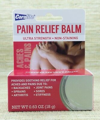 New, Coralite Pain Relief Balm, Ultra Strength, Non-Staining