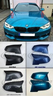 BMW F87 M2 - 'M3/M4' Style Replacement Mirror Covers Painted Any BMW M2 Colour