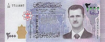 Syria 2000 Pounds (2,000) 2015 (2017) , P.New Uncirculated Unc