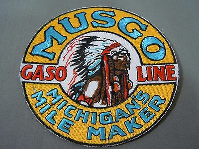 """MUSGO Gasoline Embroidered Iron On Uniform-Jacket Patch 4"""""""