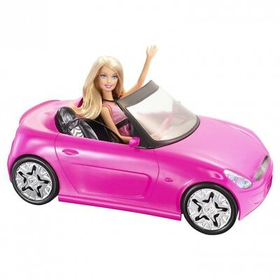 Barbie Glam Pink Convertible and Barbie Doll. Mattel. Free Shipping