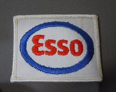 """ESSO OIL & GAS Embroidered Sew On Uniform-Jacket Patch 3"""""""