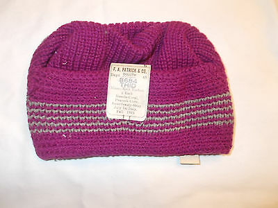 VTG-Original Antique 1919 F.A. Patrick Co Edwardian Winter Beanie Hat  hipster 1aed4eb96a21