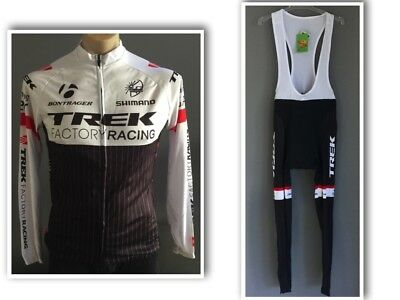 New With Tags Mens CYCLING Long Sleeve Jersey & Long Bib Kit Size L