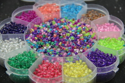 Czech  22g 2mm  Round Lot Colorful Glass Seed Beads DIY Jewelry Making