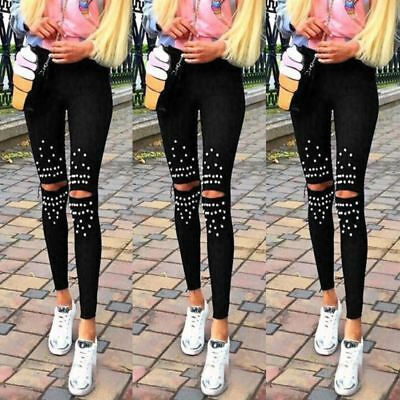 High Waist Women Pencil Stretch Casual Look Denim Skinny Jeans Pants Trousers
