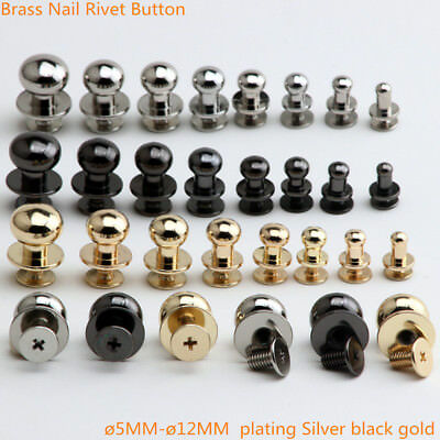 Brass Nail Rivet  Stud Screw Round Head Ring Button 4MM To 12MM 4Color 10 50PCS