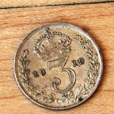 1919 Great Britain 3 Pence Silver