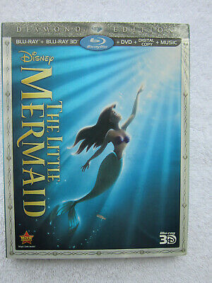 The Little Mermaid (3D Blu-ray/Blu-ray/DVD/Digital Copy, Diamond Ed) w/Slipcover