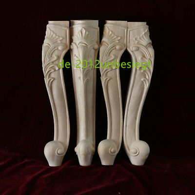 New 4 Pcs Hand-Carved wood Cabinets table bases feet Corbel Onlay Solid