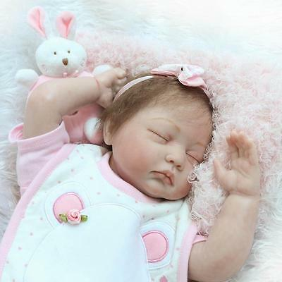 Handmade Real Life Looking 55cm Silicone + Cotton Body Reborn Baby Doll #90