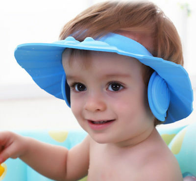 Soft Toddler Baby Bath Hat Shower Shampoo Visor Hats Wash Hair Shield Cap 2016