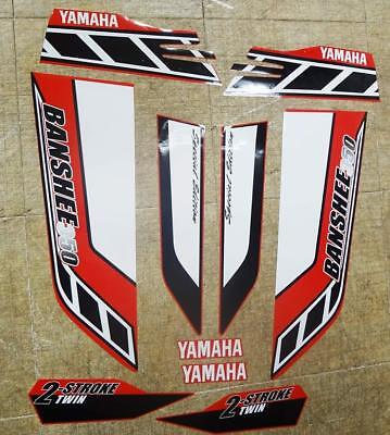 Yamaha banshee quad sticker graphics decals 10pc Special Edition Red/White ATV