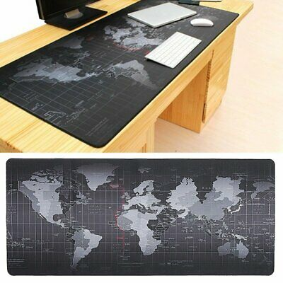 800*300*2MM Anti-Slip Rubber World Map Office Game Mouse Pad Mat Large XL Size