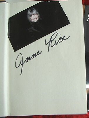 ANNE RICE - HAND-SIGNED FIRST PRINT of LASHER - 1993