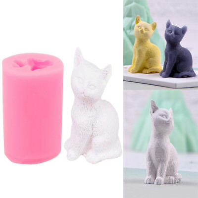 3D Cat Silicone Mold Soap Candle Clay Mold Chocolate Cake Fondant Decor DIY Tool