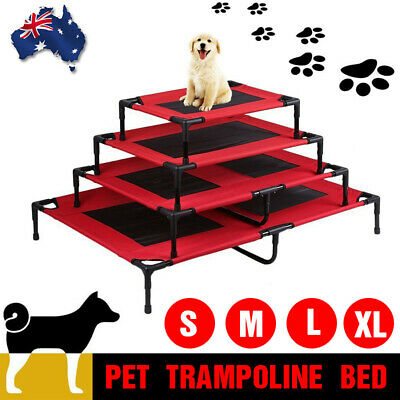 Pet Dog Bed Trampoline Heavy Duty Hammock Canvas Cat Puppy Cover 4 Size AU Stock
