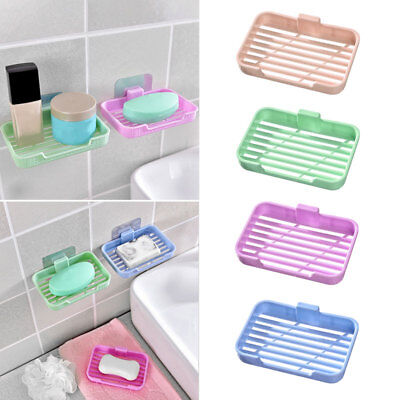 Plastic Soap Dish Plate Bathroom Soap Holder Soapbox Plate Tray Drain  Pro