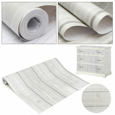 10m Wood Grain Peel&Stick Contact Paper Self-Adhesive Furniture Wall Paper.