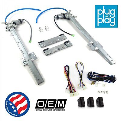 Jeep Comanche 1985-1992 Power Window Regulator Kit w// 3 LED Switches